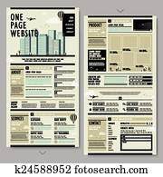 retro style one page website design
