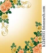 Roses Template Wedding Invitation