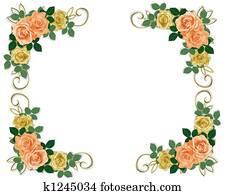Roses Template Wedding Invitation P