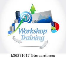 Workshop training business graph sign concept