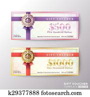 Gift certificate voucher coupon card template