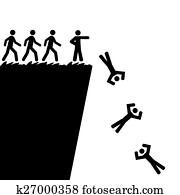 weg springen, a, felsformation