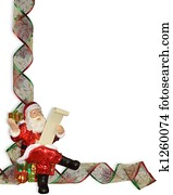 Drawing of christmas ribbons border k1169583 search clipart santa christmas ribbons border spiritdancerdesigns Images