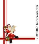 Santa Claus Christmas Border