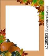 Thanksgiving Autumn Fall Frame