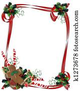 Christmas Treats ribbon Frame