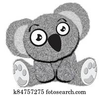 cute baby koala toy cartoon illustration