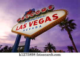 Las Vegas Welcome Sign at Sunset#1