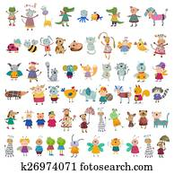 Mega collection of cartoon characte