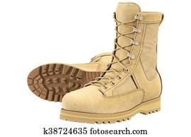 Military boots army, beige