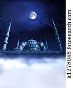Mosque night paradise