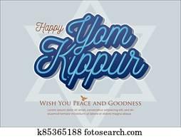 Yom Kippur vector illustration