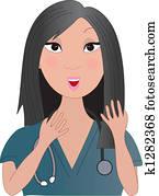 Asian Nurse Talking