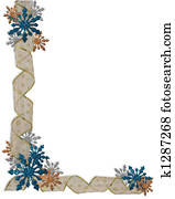 Christmas Holiday Border Snowflakes