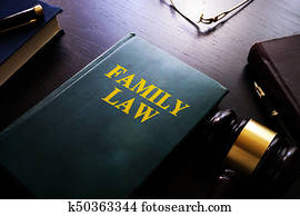 Family law on a table.