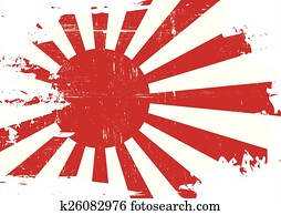 Scratched Japan war Flag
