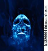 scull blue fire