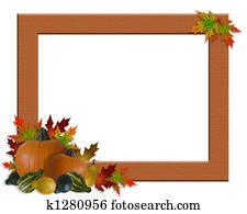 Thanksgiving Fall Autumn Frame