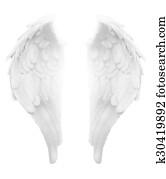Divine Light White Angel Wings