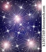 Fireworks digital background