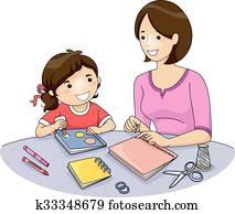 Mom Kid Book Making