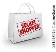 Secret Mystery Shopper Shopping Bag Store Evaluation
