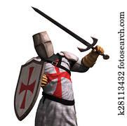 Templar Knight in Battle