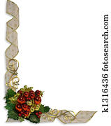 Christmas Border Corner design