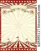 Circus grunge red poster