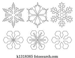 flakes of snow