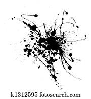 spider ink splat