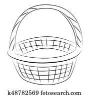 Cartoon image of Basket Icon. Basket symbol