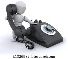 On the telephone