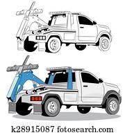abschleppwagen, zeichnung