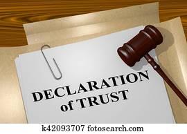 Declaration of Trust concept