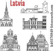 Historic landmarks and sightseeings of Latvia