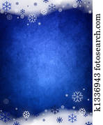 Ice blue christmas background