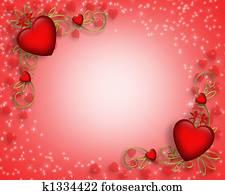 valentines tag, umrandungen