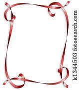 Red Ribbons border for Valentine