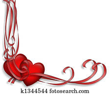 Valentine Hearts and Ribbons