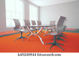 Conference room with red carpet