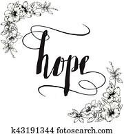 Hope Calligraphy Typography