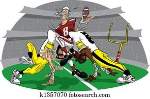 Rush in American Football game #9