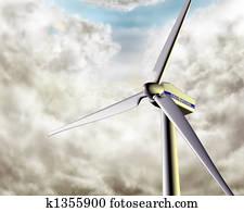 Windy wind turbine