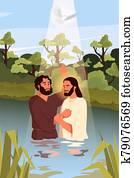 Bible narratives about the Baptism of Jesus Christ. John the Baptist