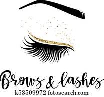 brauen, und, peitschen, logo