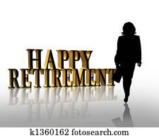 Retirement illustration 3D graphic
