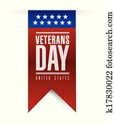 veterans day banner illustration design