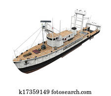 Fishing Boat Isolated