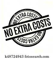 No Extra Costs rubber stamp
